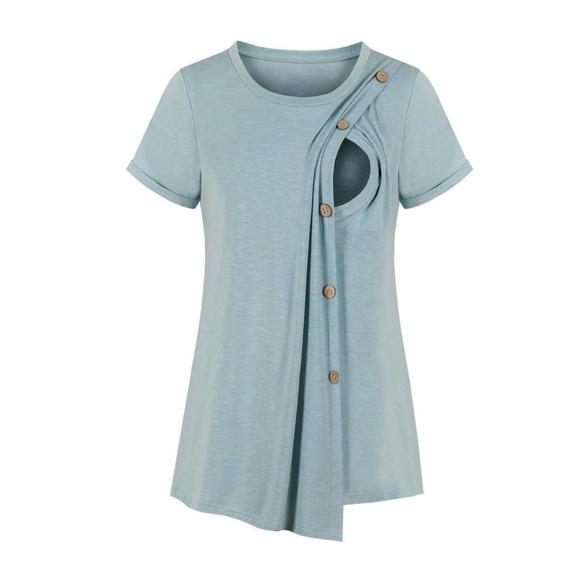 Round Collar Short Sleeve