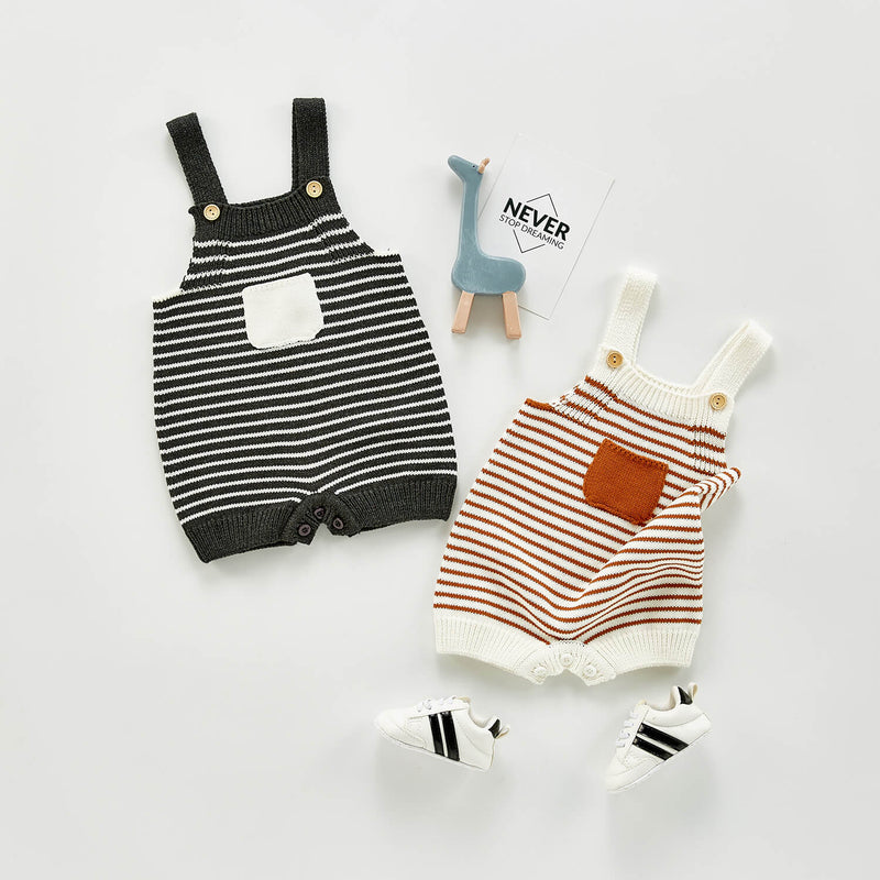 Knitted Striped Romper