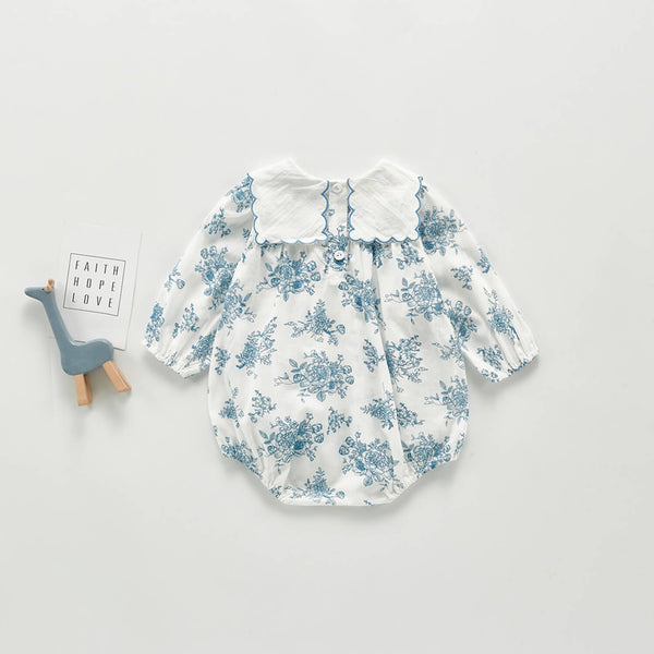 Sweet Blue Floral Bodysuit
