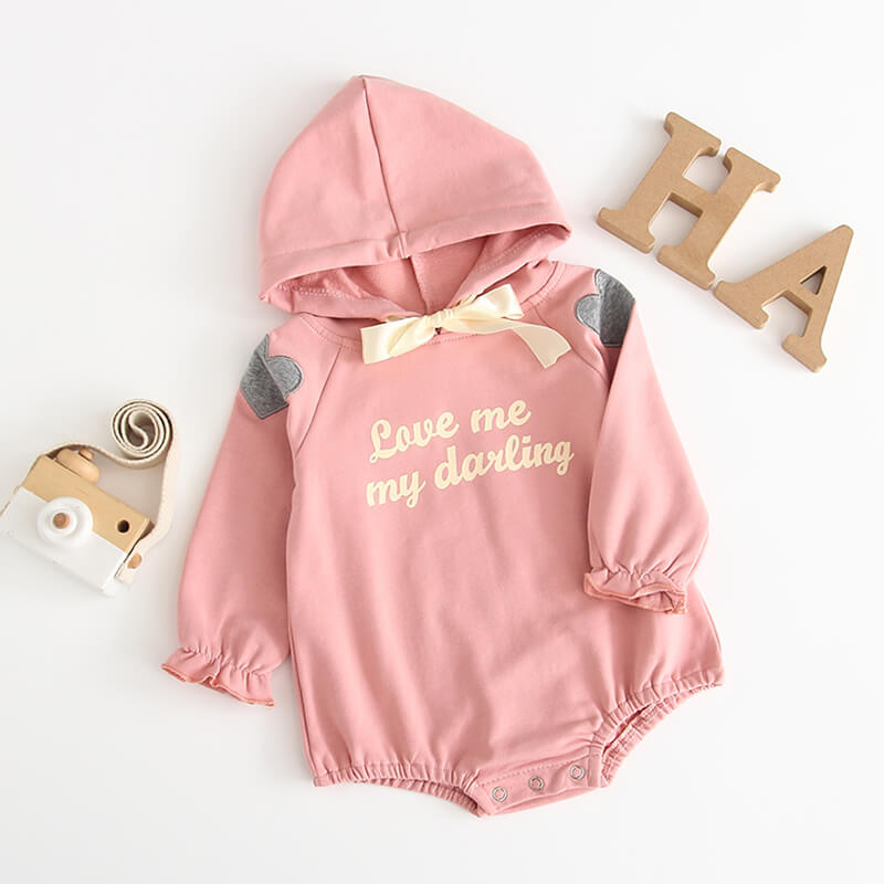 Love Me Hooded Onesie