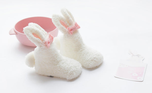 Fleece Rabbit Baby Boots
