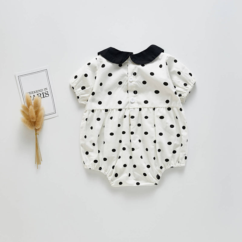 Little Lapel Dot Romper