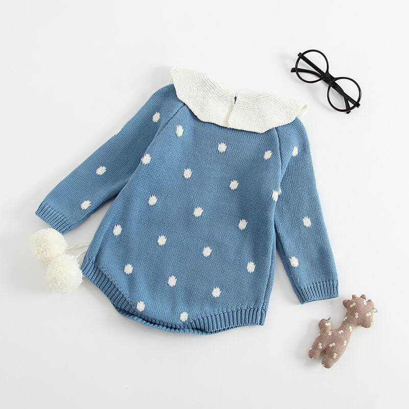 Pompom Dotted Romper