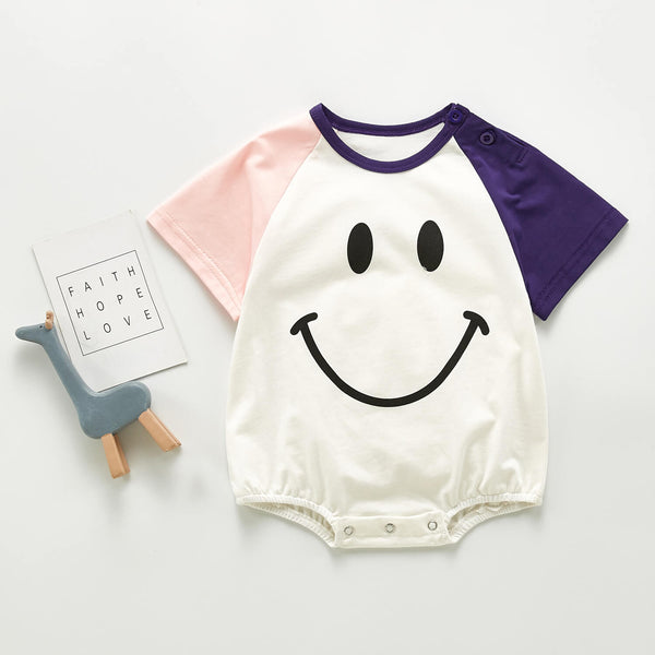Cartoon Smiley Romper