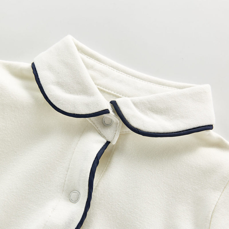 Cotton Polo Onesie