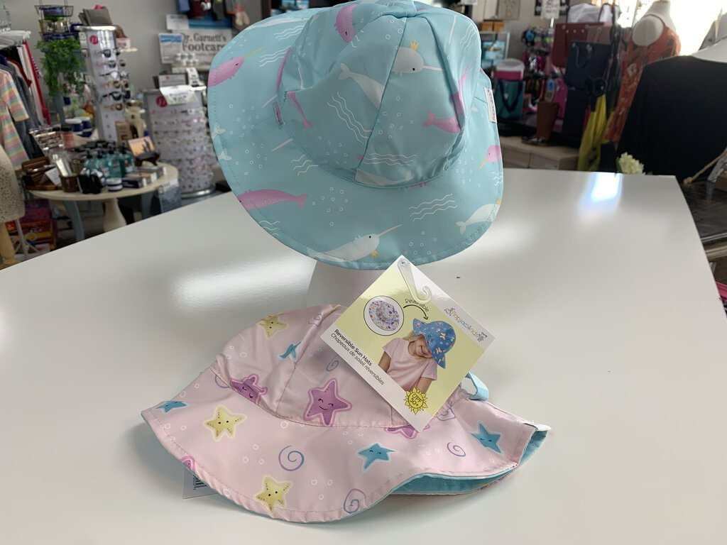 Reversible Sun Hat - Narwhal/Starfish