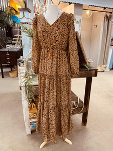 Dark Camel Mix Maxi Dress