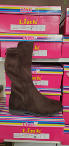 Kid's tall dark brown boots