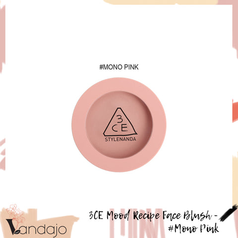 3CE - Mood Recipe Face Blush (#Mono Pink)