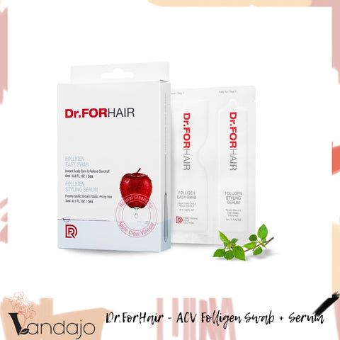 Dr.ForHair *NEW* Apple Cider Vinegar Folligen Dry Shampoo Alike Easy Swabs & Styling Serum (6ml + 3ml)*5