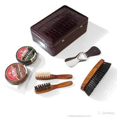 Leather Shoe Shine Kit by F. Hammann, Germany