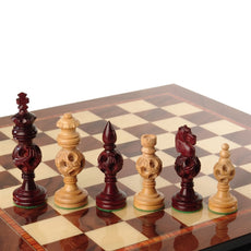 Giglio Asla handmade large sandalwood/bud rosewood chess pieces