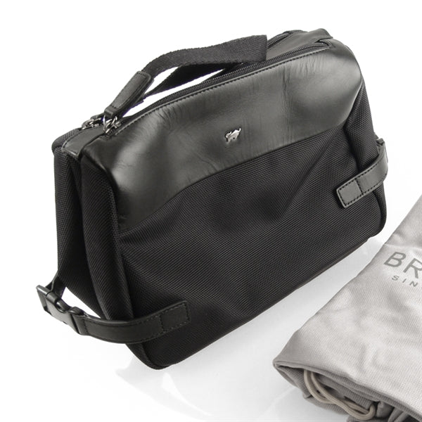 Braun Buffel two-compartment unusual travel toiletry bag