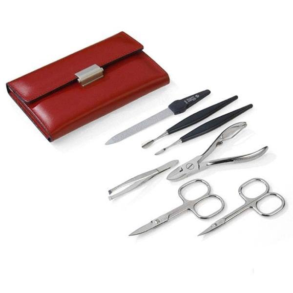 """DIABOLO L""- 7 pcs Nickel Plated High Carbon Steel Manicure Set by Niegeloh, Germany"