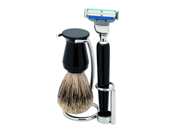 Shaving Set with Pure Badger Brush by Erbe Germany