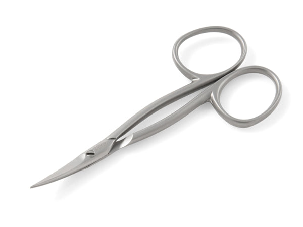 Stainless steel cuticle scissors in matte finish