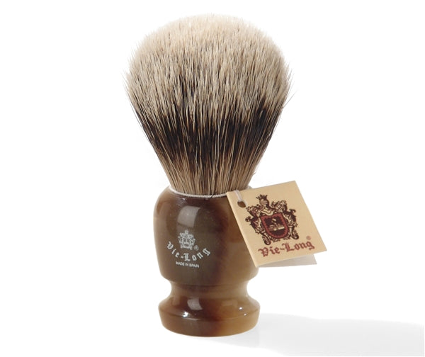 Vie-Long Super Badger Shaving Brush with Resin Handle. Made in Spain