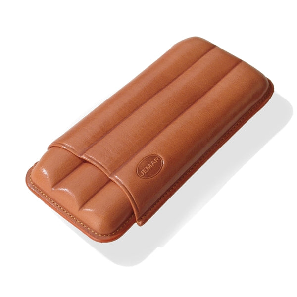 Mareva 3-Cigar Leather Case by Jemar, Spain