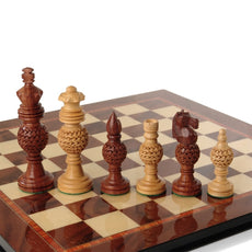 Giglio Asla handcrafted medium sandalwood/bud rosewood chess pieces