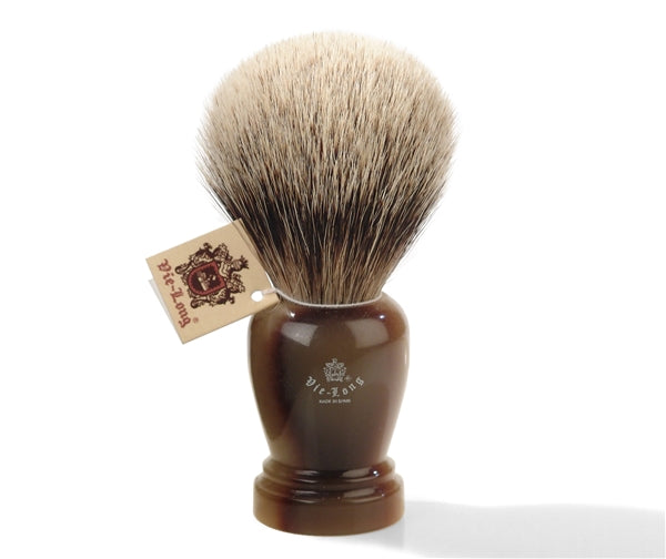 Vie-Long Silvertip Badger Shaving Brush with Resin Handle. Made in Spain