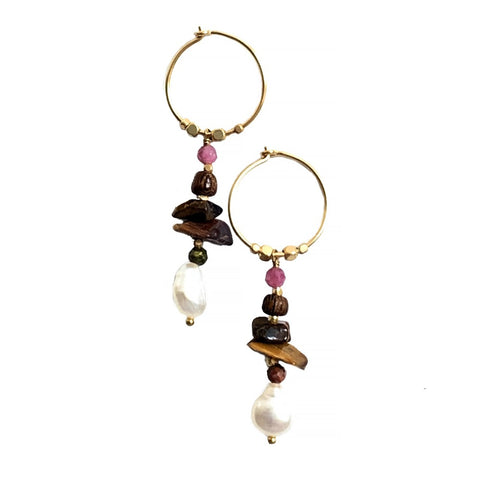Waterfall Earring Unakite