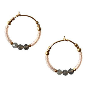 Hoop Earring Beads Rose