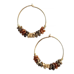 Hoop Earring Flare Earth