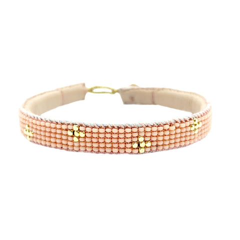 Mini Cross Beaded Bracelet Honey