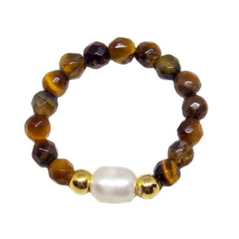 Ring Woven Stone Tiger eye