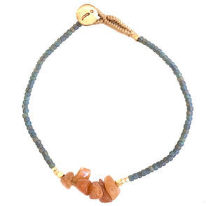 Lulu Chip Gemstone Blue Grey