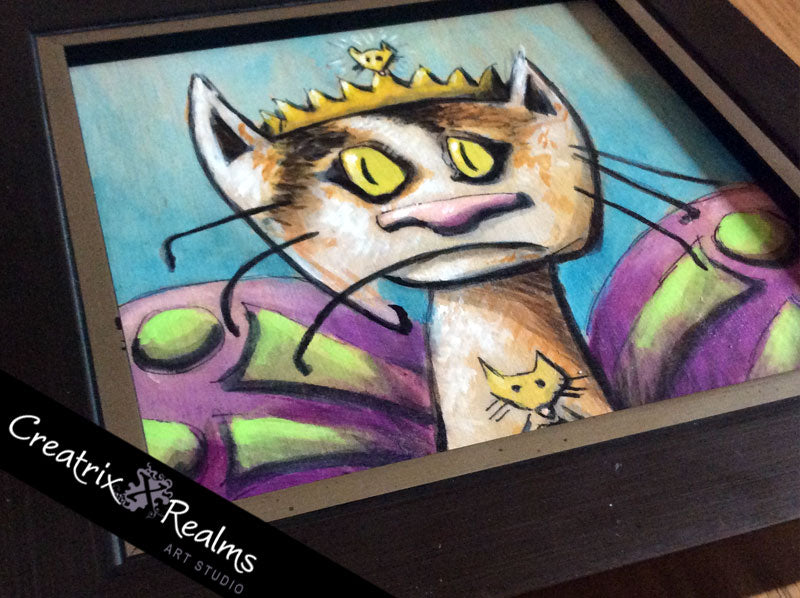 Callie Cat Fairy – Acrylic and Ink on Panel