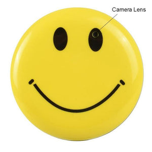 Smiley Face Pin Mini Hidden Camera & DVR