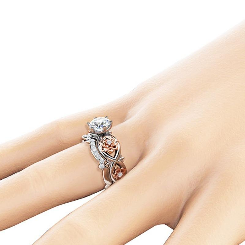 Explosion jewelry creative paragraph gold-plated zircon ring fashion ring