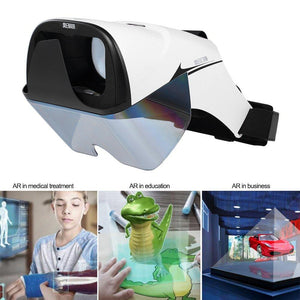Docooler AR Headset Box Glasses 3D Holographic Hologram Display Holographic Projector for Smart Phones with 4.2-5.7in Virtual Handle