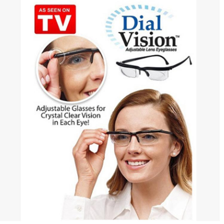New! Dial Vision Adjustable Glasses in Black As Seen On TV!!!
