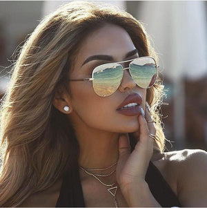 2018 new fashion metal delicate sunglasses