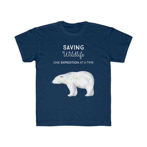 Saving Wildlife Polar Bear Kids T-Shirt