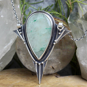 Voyager Necklace //  Moss Agate - Acid Queen Jewelry