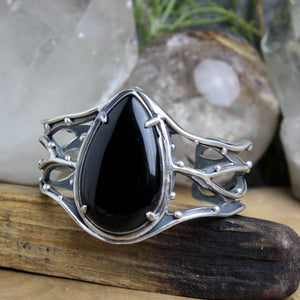Warrior Laced Cuff // Onyx - Acid Queen Jewelry