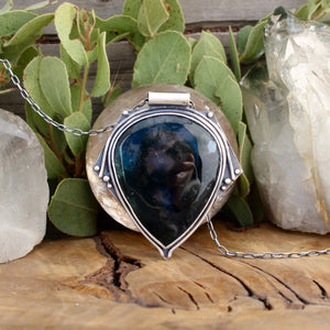 Voyager Pendant // Moss Agate - acid-queen-jewelry, [product_type] - acid-queen-jewelry, Acid Queen Jewelry - acid-queen-jewelry,  Acid Queen Jewelry - acid-queen-jewelry