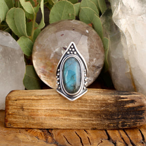 Warrior Ring // Labradorite - Size 8 - acid-queen-jewelry, [product_type] - acid-queen-jewelry, Acid Queen Jewelry - acid-queen-jewelry,  Acid Queen Jewelry - acid-queen-jewelry