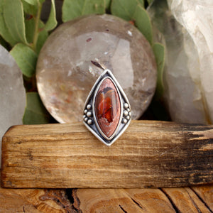 Warrior Ring // Mexican Fire Opal - Size 6 - acid-queen-jewelry, [product_type] - acid-queen-jewelry, Acid Queen Jewelry - acid-queen-jewelry,  Acid Queen Jewelry - acid-queen-jewelry