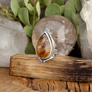 Warrior Ring // Citrine - Size 9 - acid-queen-jewelry, [product_type] - acid-queen-jewelry, Acid Queen Jewelry - acid-queen-jewelry,  Acid Queen Jewelry - acid-queen-jewelry