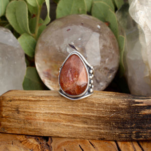 Warrior Ring // Sunstone - Size 6 - Acid Queen Jewelry