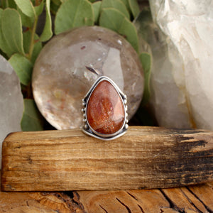 Warrior Ring // Sunstone - Size 6 - acid-queen-jewelry, [product_type] - acid-queen-jewelry, Acid Queen Jewelry - acid-queen-jewelry,  Acid Queen Jewelry - acid-queen-jewelry