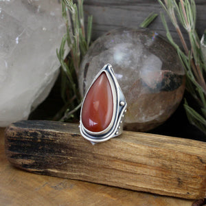 Warrior Ring // Red Jasper - SIZE 8 - acid-queen-jewelry, All Products - acid-queen-jewelry, vendor-unknown - acid-queen-jewelry,  Acid Queen Jewelry - acid-queen-jewelry