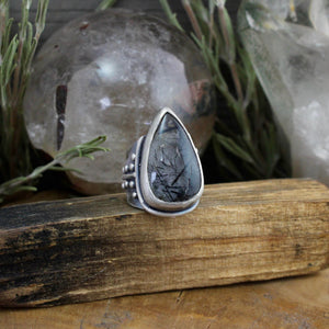 Warrior Ring // Tourmalated Quartz - SIZE 6 - acid-queen-jewelry, All Products - acid-queen-jewelry, vendor-unknown - acid-queen-jewelry,  Acid Queen Jewelry - acid-queen-jewelry