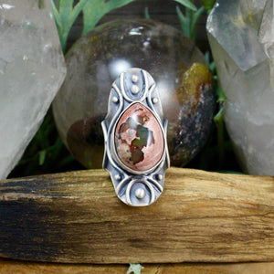 Warrior Shield Ring // Mexican Fire Opal - SIZE 8 - acid-queen-jewelry, All Products - acid-queen-jewelry, vendor-unknown - acid-queen-jewelry,  Acid Queen Jewelry - acid-queen-jewelry