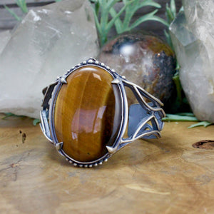 Laced Warrior Cuff // Tigers Eye - acid-queen-jewelry, All Products - acid-queen-jewelry, vendor-unknown - acid-queen-jewelry,  Acid Queen Jewelry - acid-queen-jewelry