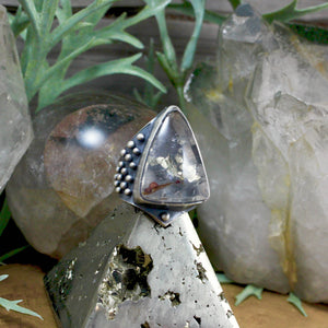 Warrior Ring // Lodolite - SIZE 9 - acid-queen-jewelry, All Products - acid-queen-jewelry, vendor-unknown - acid-queen-jewelry,  Acid Queen Jewelry - acid-queen-jewelry